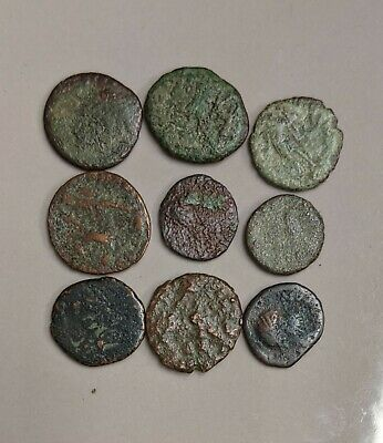 Collection of Nine ANCIENT ROME Roman Coins (#L4252)