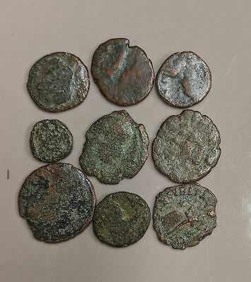 Collection of Nine ANCIENT ROME Roman Coins (#L4253)