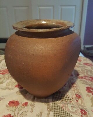 Vintage Matte Glaze Vase Arts Crafts? mid century pottery Mission Signed Stamped