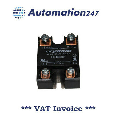 Crydom HD4825K SSR Solid State Relay 4-32VDC / 48-530VAC 25A 001616
