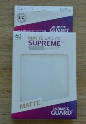 Ultimate Guard Supreme UX small Sleeves 60x Matte rot Yu-Gi-Oh Hüllen 62x89mm