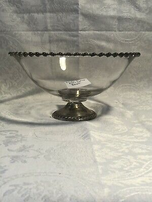 Silver Plated Footed Vintage Candlewick Bowl