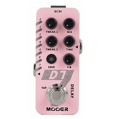 New Mooer D7 Delay w/ built in Looper Micro Guitar Effects Pedal