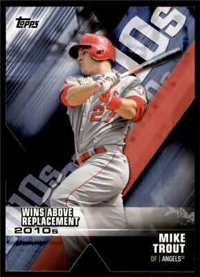 2020 Topps Series 1 Decade of Dominance Die Cut Blue #DOD-9 Mike Trout