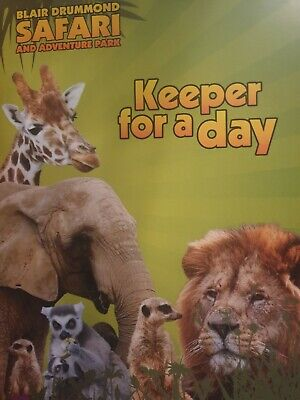 zoo keeper for a day experience animals 2 gift cards £250 for both