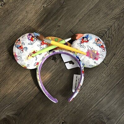 2020 Disney Parks Ink And Paint Minnie Mouse Artist Palette Ears In Hand