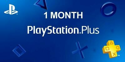 Playstation Plus 1 MONTH  PS4 PS3 Vita (No Code) FAST DELIVERY