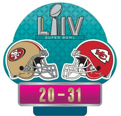 Super Bowl Liv 54 Kansas City Chiefs 49Ers Dueling Champions Final Score Pin