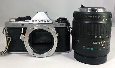 Pentax ME Super SE 35mm Film SLR Camera Body & SMC-Pentax-AF 28-80mm LENS