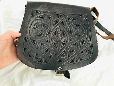 Moroccan Leather Purse. Leather Purse. Adjustable Strap