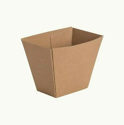 Corrugated Kraft Chip Cups Box Paper Beta Board Brown Disposable 500 pcs