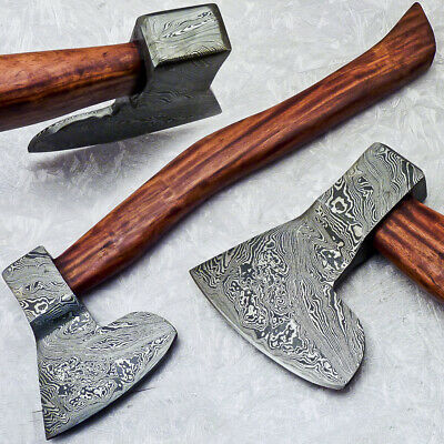"""New Beautiful Handmade Damascus Steel AXE """"UNIQUE AXE"""" Limited Edition ST-7010"""