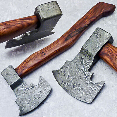 """New Beautiful Handmade Damascus Steel AXE """"UNIQUE AXE"""" Limited Edition ST-7013"""