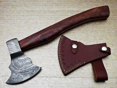 """New Beautiful Handmade Damascus Steel AXE """"UNIQUE AXE"""" Limited Edition ST-7019"""