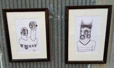2 X Dan WITHEY original pen and inks dated 2011.