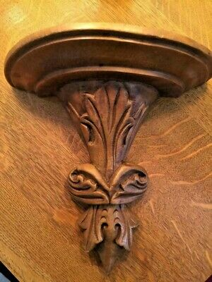 Antique Vintage Hand Carved Wood Corbel / Shelf / Sconce / Ready to Hang