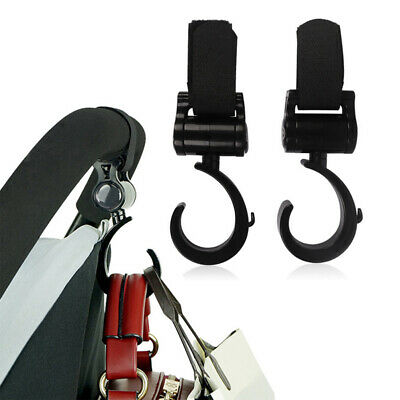 2Pcs Baby Stroller Hooks Pram Pushchair Carriage Buggy Hook Shopping Bag Clip 6L