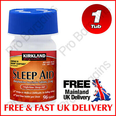 Kirkland Sleep Aid 25mg - 96 Tablets 1 Tub EXP 10/2021 - 2 DAY FAST DELIVERY