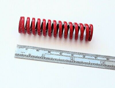Heavy duty Compression Spring Red Coated 16mm X 64mm 9mm Bore Model engineering