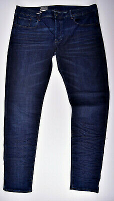 G-star Raw 3301 Deconstructed Sottile W40 L36 Superstretch Blu Jeans Jeans Uomo