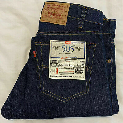 Vintage 1966 Levis 505 0217 Red Tag Actual 34x33 Tag 34x32 Jean NWT Old Stock