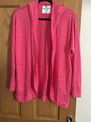 NWOT Stunning Girls Abercrombie And Fitch Hooded Pink Cardigan  Age 13-14