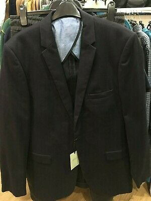 William & Brown mens navy 100% cotton suit jacket 44xt brand new
