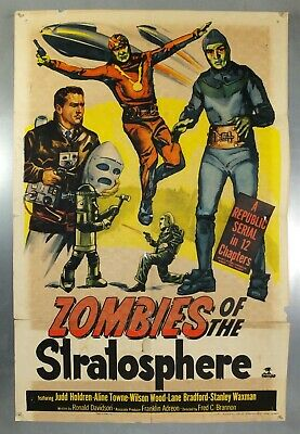 1950s Zombies of the Startosphere Classic Sci-Fi Action Movie Poster 20x30