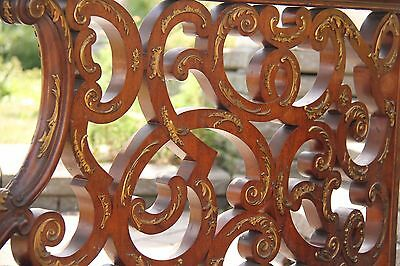 19C Italian Baroque Royal Palace Carved Gilded Oak Serpentine Hand Rail