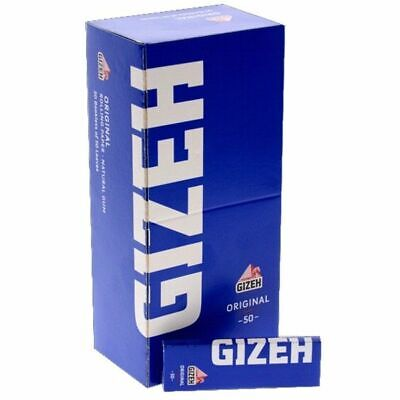 2500 Cartine Gizeh Blu Corte Original 1 Box 50 Libretti Blue Cartina Corta