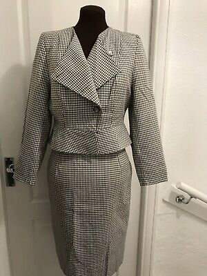 Vintage Dogtooth Skirt Suit