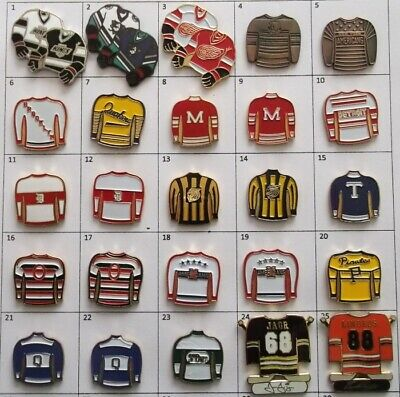 Different Teams Nhl Hockey Jersey Logo Pin (Your Choice) # G806