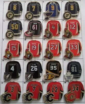 Different Teams Nhl Hockey Jersey Logo Pin (Your Choice) # G808