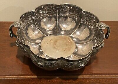 Aztec Rose by Sanborns Mexican Mexico Sterling Silver Soup Bowl #1775