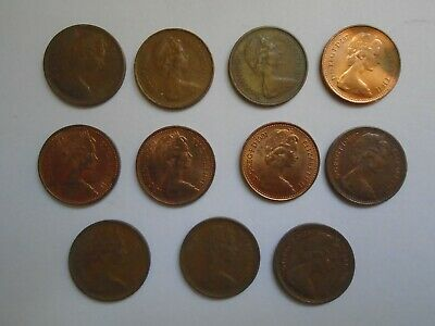 1/2p Coin - QE2 1/2 Half Penny Coins - UK Circulated coins 1971 - 1983