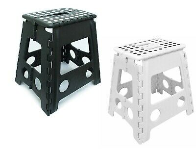 Step Stool Multi-Purpose Heavy Duty Plastic Folding Home Kitchen Storage Sitting