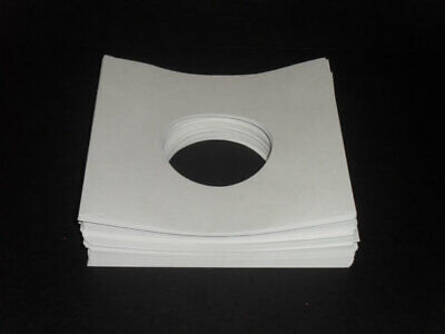 "Pack of 50  7"" Record Sleeves 45rpm White Paper"