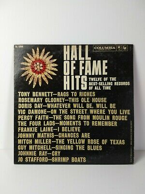 "VARIOUS ARTISTS ""Hall Of Fame Hits"" 12"" Vinyl LP 33RPM 1959 Columbia  CL 1308 VG"