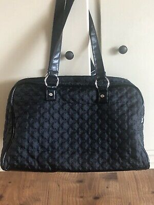 Retired Pre-Owned Thirty One City Weekender Tote - Black Quilted