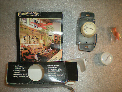 New Casablanca Ceiling Fan Wall Control Rotary Switch 4-Speeds Mod W-4 Old Stock