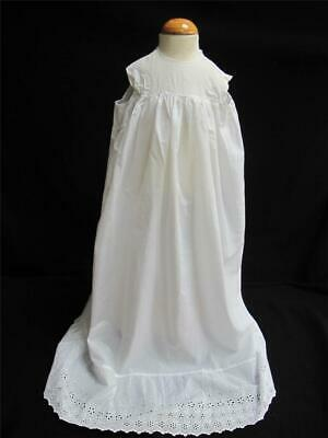 Victorian Babys Petticoat Antique Cotton Embroidered Whitework Dress Gown c1890