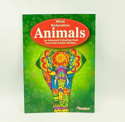 A4 Adult Anti-Stress Animal Colouring Book Therapeutic Stress Relief Activity