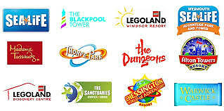 1 X Free Adult Entry Voucher To Alton Towers Legoland Tussauds Dungeons Merlin