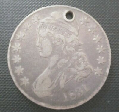 Vintage 1831 Half Dollar Liberty in the Hair and Wings Spreading out Eagle