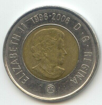 2006 Canadian Prooflike Toonie RARE Key Double Date 1996-2006 Top $2.00
