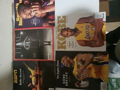 5 Issues Kobe Bryant Time Sports Illustrated ESPN Special Edition 2020 Tribute