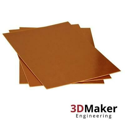 """Ultem® PEI Sheet: 12/""""x12/"""" backed with 3M™ Adhesive 5 mil."""