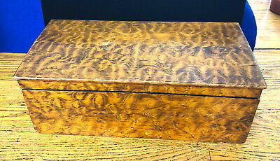 18th 19th Century Stately American Primitive Burl Figured Wood Box Hand Crafted