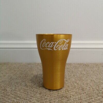 McDonald's Aluminium Cup Collectable Glass Gold/Yellow 2020 Promotion