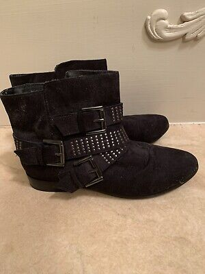 New Women/'s Bongo Zipper Ankle Bootie Black Alessandra 63Y